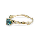 Teal sapphire ring by Olivia Ewing Jewelry