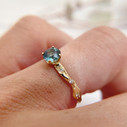 Blue green sapphire engagement ring by Olivia Ewing Jewelry