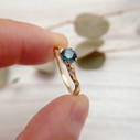 Unique Montana sapphire ring by Olivia Ewing Jewelry