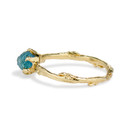 Blue green sapphire ring by Olivia Ewing Jewelry