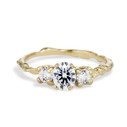 Naples Oval Diamond Three Stone Ring by Olivia Ewing Jewelry