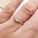 Oval diamond ring by Olivia Ewing Jewelry