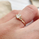 Unique engagement ring design by Olivia Ewing Jewelry