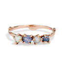 Garland Montana Sapphire Four Stone Ring by Olivia Ewing Jewelry
