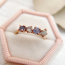 Purple stone engagement ring by Olivia Ewing Jewelry
