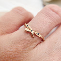 Nature inspired wedding band by Olivia Ewing Jewelry