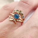 Unique sapphire engagement rings by Olivia Ewing Jewelry