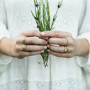 Nature inspired wedding rings by Olivia Ewing Jewelry
