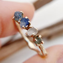 unique engagement rings with Montana sapphires by Olivia Ewing Jewelry