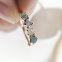 raw natural Montana sapphire ring  by Olivia Ewing Jewelry