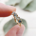 18K gold Montana sapphire engagement ring by Olivia Ewing Jewelry