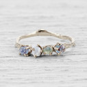 White gold Montana sapphire engagement ring by Olivia Ewing Jewelry