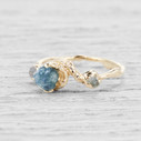 unique montana sapphire engagement ring by Olivia Ewing Jewelry