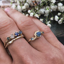 Tree themed sapphire engagement ring by Olivia Ewing Jewelry