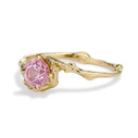 Nature inspired engagement ring with pink sapphire by Olivia Ewing Jewelry