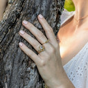 Uncut Montana Sapphire engagement ring by Olivia Ewing Jewelry