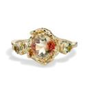 Naples Oregon Sunstone Trio Ring by Olivia Ewing Jewelry