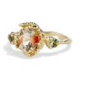 Oregon Sunstone Engagement Ring by Olivia Ewing Jewelry