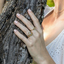 Forest inspired engagement ring by Olivia Ewing Jewelry