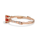 Sunstone engagement ring by Olivia Ewing Jewelry