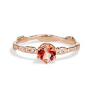 Bluebell Oregon Sunstone Solitaire Ring by Olivia Ewing Jewelry