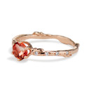 Oregon Sunstone ring by Olivia Ewing Jewelry
