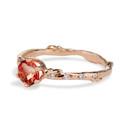 Oregon Sunstone ring by Olivia Ewing Jewelry