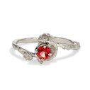 Madrid Oregon Sunstone Solitaire Ring by Olivia Ewing Jewelry
