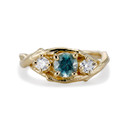 Unity Montana Sapphire Three Stone Ring by Olivia Ewing Jewelry