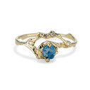 Naples Montana Sapphire Half Halo Ring by Olivia Ewing Jewelry