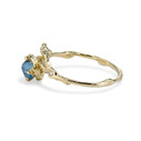 Raw Montana sapphire ring by Olivia Ewing Jewelry