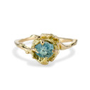 Large Naples Rough Montana Sapphire Solitaire Ring by Olivia Ewing Jewelry