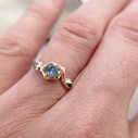 Raw sapphire engagement ring by Olivia Ewing Jewelry