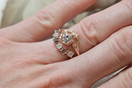 Custom Garland White Sapphire Contour Ring