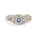 Knox Moissanite Three Stone Ring by Olivia Ewing Jewelry