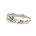 Non traditional Moissanite engagement ring by Olivia Ewing Jewelry