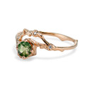Unique green sapphire ring by Olivia Ewing Jewelry