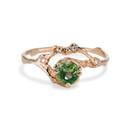 Naples  Australian Green Sapphire Half Halo Ring by Olivia Ewing Jewelry