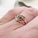 Australian sapphire engagement ring with green sapphire by Olivia Ewing Jewelry