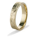 Textured wedding ring by Olivia Ewing Jewelry