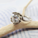 Nature lover diamond ring by Olivia Ewing Jewelry