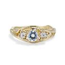 Knox Diamond Three Stone Ring by Olivia Ewing Jewelry