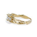 Non traditional Diamond engagement ring by Olivia Ewing Jewelry
