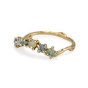 14K yellow gold raw sapphire contour ring by Olivia Ewing Jewelry