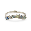 14K white gold Contour Garland Ring by Olivia Ewing Jewelry