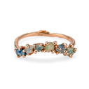 14K rose gold rough Montana Sapphire Garland Ring by Olivia Ewing Jewelry