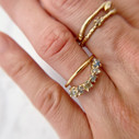 Montana Sapphire Garland Contour Ring in 14K yellow gold by Olivia Ewing Jewelry