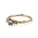 14K gold twig band with grey diamonds by Olivia Ewing Jewelry