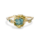 Large Naples Rough Montana Sapphire Trio Ring by Olivia Ewing Jewelry