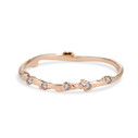 14K rose gold twig band with tiny diamonds by Olivia Ewing Jewelry